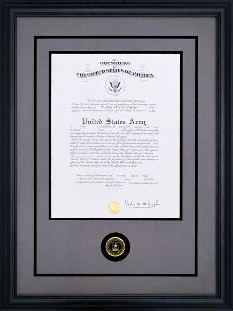 officer promotion certificate frame custom framed us army promotion certificate framed guidons
