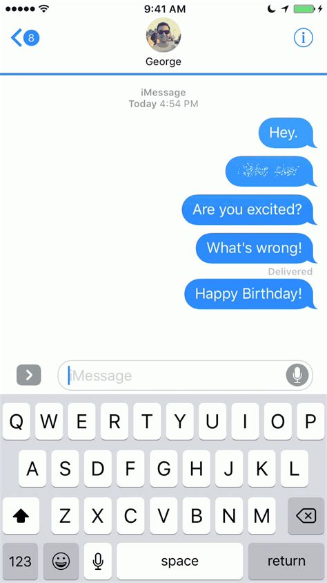 chat wallpaper for imessage 9 gifs showcasing every new imessage bubble effect in ios