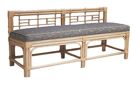 rattan bench fong brothers co fb 3715 b bench