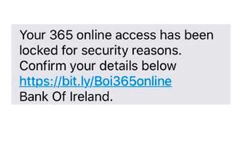 bank of ireland 365 number these are the scam text messages you should never respond to