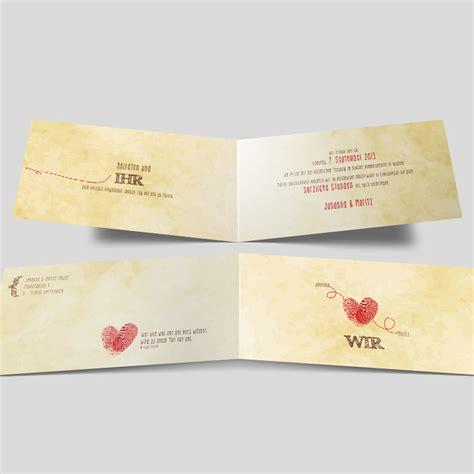 Hochzeitseinladung Fingerprint by Fingerprint Hochzeitseinladung Wir