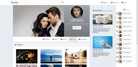 bootstrap themes social network free bootdey day day bootstrap social network template like