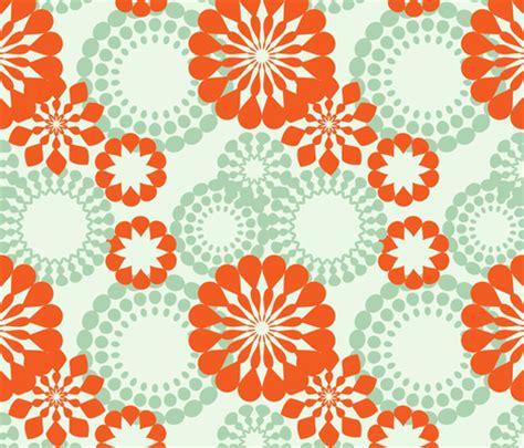 Custom Flowers Pattern 1 retro flower pattern fabric suziedesign spoonflower