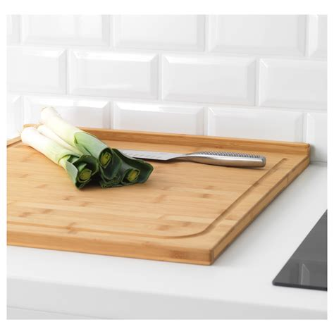 How To Use Kitchen Knives l 196 mplig chopping board bamboo 46x53 cm ikea
