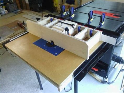 workshop solution table saw router table extension by