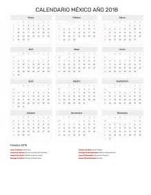 Calendario 2018 Dias Festivos Mexico Calendario M 233 Xico A 241 O 2018 Feriados