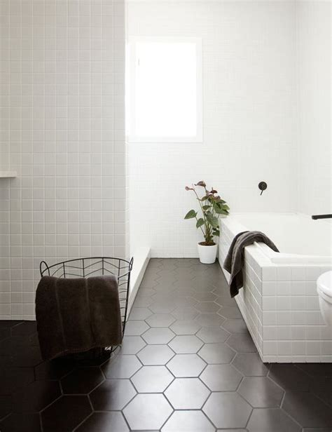 small hexagon bathroom tiles 30 matte tile ideas for kitchens and bathrooms digsdigs