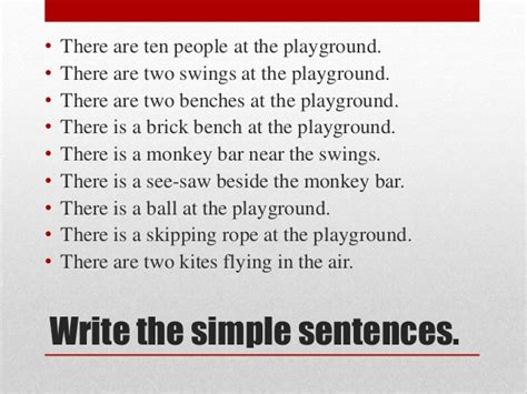 swing sentence upsr sentence construction module 1 at the playground