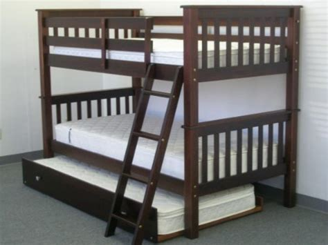 Best Deal On Bunk Beds Black Friday Bunk Bed Mission Style In Cappuccino With Trundle So 3 Beds In