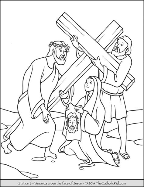 coloring page of jesus face stations of the cross coloring pages 6 veronica wipes