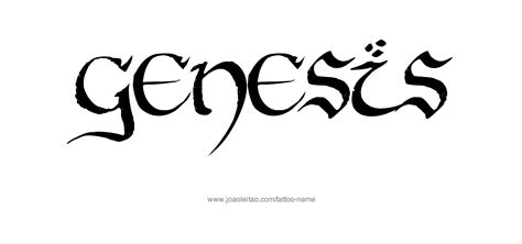 genesis name tattoo designs