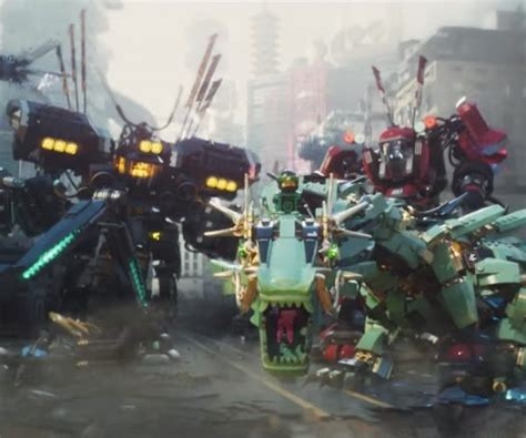 film robot ninjago the lego ninjago movie trailer is full of robots and