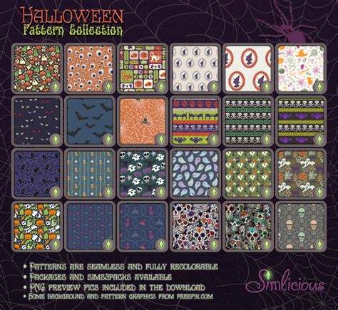 pattern theme download halloween pattern collection custom content for the sims
