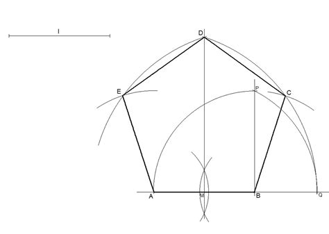 how to construct a pentagon how to draw a regular pentagon knowing the length of one