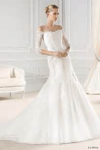 wedding dresses with the shoulder sleeves la sposa 2015 wedding dresses bridal collection