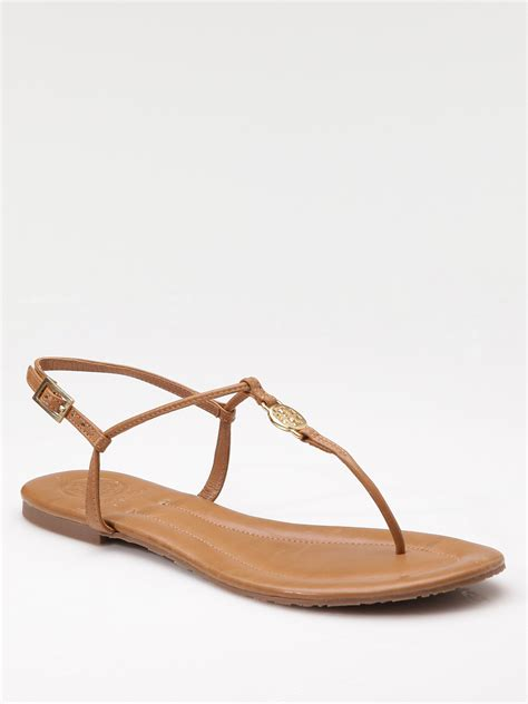 burch sandals sale burch emmy logo sandals in brown royal lyst