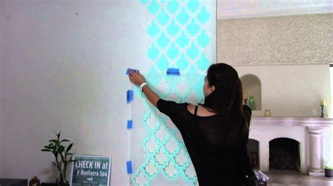 como pintar una pared de textura gruesa  sd stencils