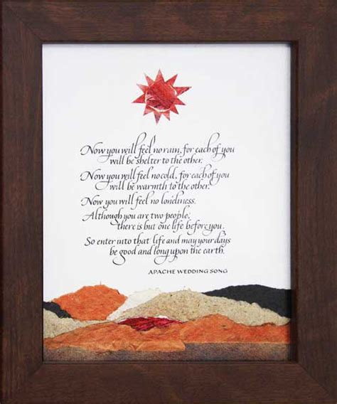 Apache Wedding Blessing Version by Peggy Davis Homegrown Judaica