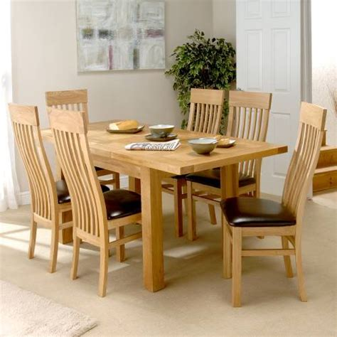 oak dining room table sets dining room sets richmond oak small dining set with 6 ch