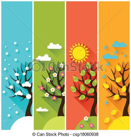 imagenes de invierno otoño verano primavera vectores de invierno vertical primavera 225 rboles oto 241 o