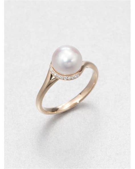 mikimoto 8mm white cultured akoya pearl 18k