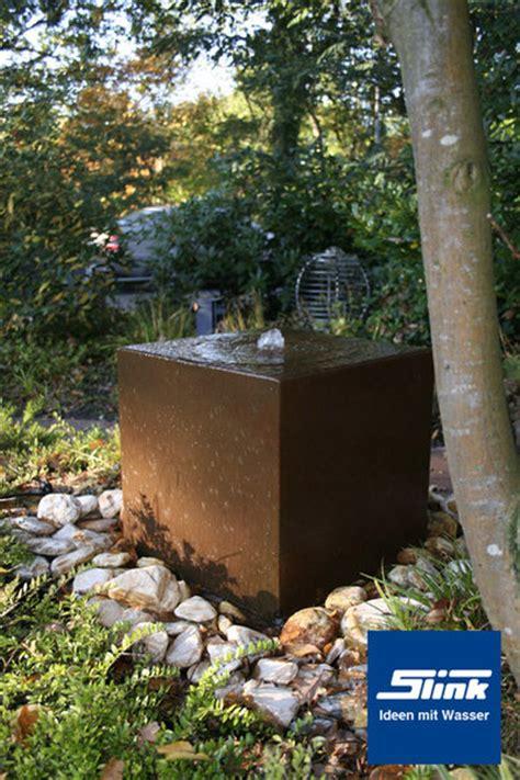 gartenbrunnen cortenstahl quader kaufen - Gartenbrunnen Cortenstahl