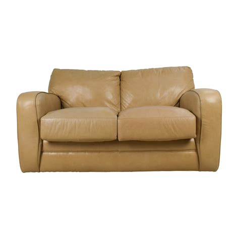 leather loveseat 50 off beige leather loveseat sofas