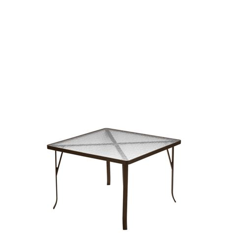 ada compliant table bases acrylic 42 quot square dining table ada compliant tropitone
