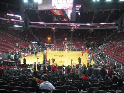toyota center sections toyota center section 113 houston rockets