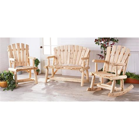 Cedar Log Patio Furniture by Guide Gear 174 Cedar Log Lodge Chair 152049 Patio