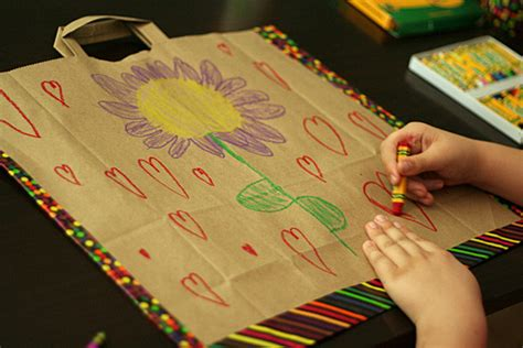 paper bag work portfolios make and takes