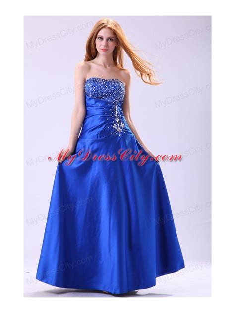 dress design for js prom royal blue prom dress with beading empire strapless