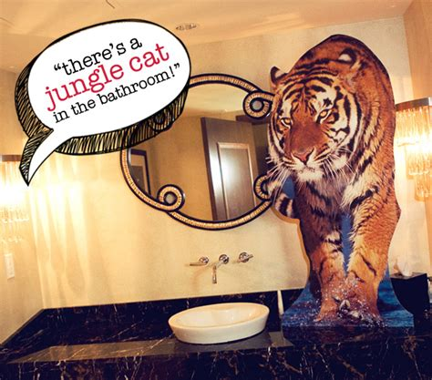 the hangover tiger in the bathroom lookin forward to the hangover