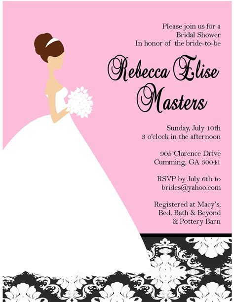 customized wedding shower invitations bridal shower invitations custom bridal shower