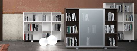 librerie da ufficio libreria da ufficio con ante in vetro linekit