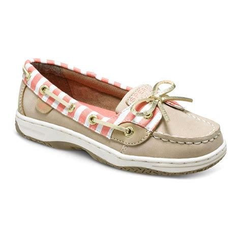 girls boat shoes sperry girl s angelfish boat shoes d d texas outfitters