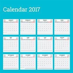 wall calendar template common 2017 wall calendar template vector 17 vector