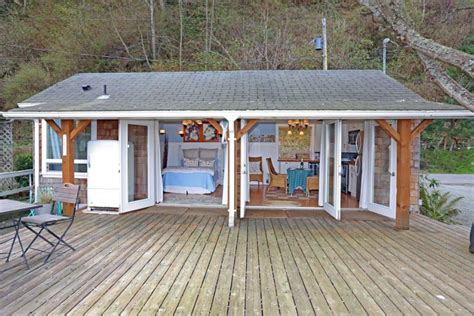 beach cabin plans tiny beach cottage on camano island small house bliss