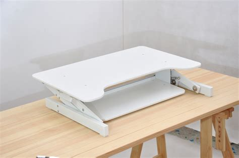 White Ergonomic Height Adjustable Standing Desk Sit Stand Standing Desk Riser