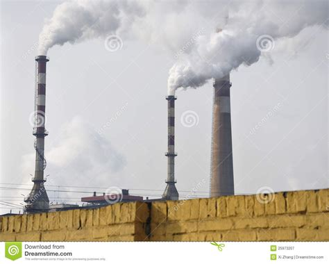 pollution chimney smoke royalty free stock photography