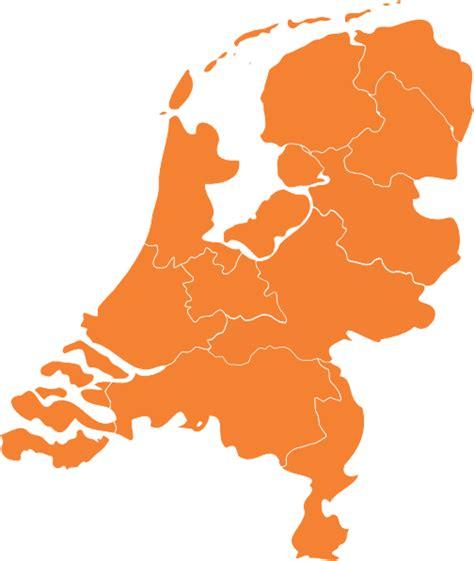 netherlands map eps kaart nederland oranje clip at clker vector clip