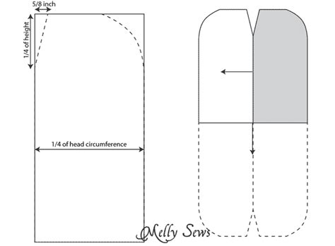 Beanie Design Template by Sew A Beanie Hat Slouchy Hat Tutorial Melly Sews