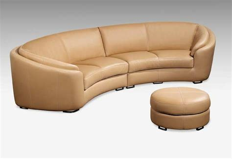 Round Leather Sofa Round Corner Sofa Leather Sectional In   TheSofa