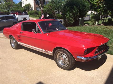 67 mustang fastback gt 1967 67 ford mustang fastback gt 289