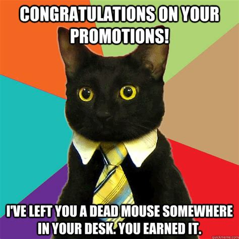 Funny Congratulations Meme - congratulations on your promotions i ve left you a dead
