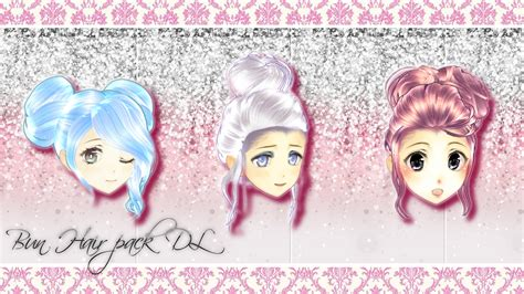 hair bun download mmd hair bun pack dl by deidarachanheart on deviantart