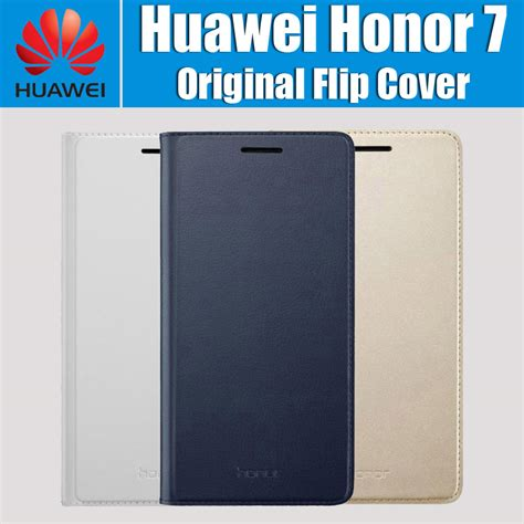Huawei Honor Enjoy 5s Leather Flip Book Cover Kulit Sarung Elegan tvat luxury smart front touch window view flip covers for huawei honor 7 leather stand bags