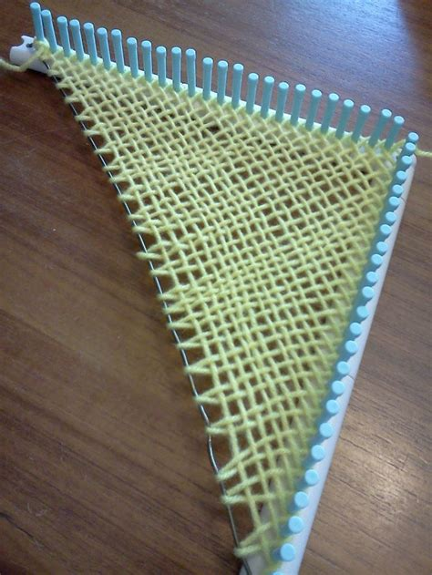 martha stewart loom   coat hangar  weave