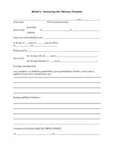 obituary outline template best photos of blank obituary template fill in the blank