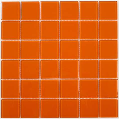 fliese orange 2 x 2 orange glass square tile glossy bl2408a